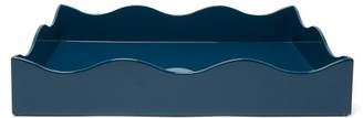 The Lacquer Company - X Rita Konig Belles Rives Large Lacquer Tray - Blue