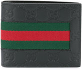 Gucci signature web bi-fold wallet - men - Calf Leather - One Size