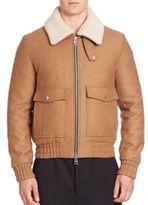 Ami Wool-Blend Bomber Jacket