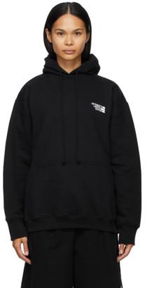 Vetements Black Limited Edition Logo Hoodie