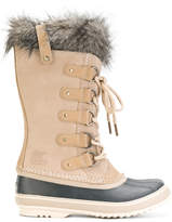 Sorel furry trim ankle length boots