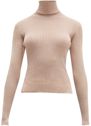 Altuzarra Bryan Roll-neck Rib-knitted Sweater - Womens - Light Pink