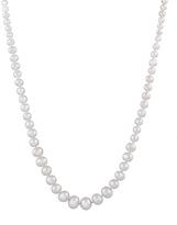 Bella Pearl White Pearl Graduated Necklace