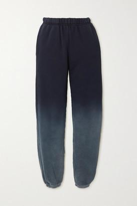 LES TIEN Ombre Cotton-jersey Track Pants - Navy