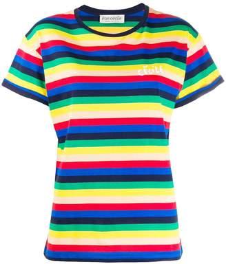Être Cécile Rainbow stripe T-shirt