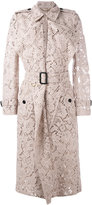Burberry lace trench coat - women - Cotton/Polyamide/Viscose - 4