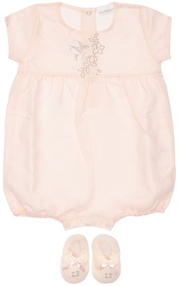 La Perla Cotton Interlock Romper & Socks