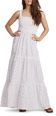 Roxy Cotton Tiered Maxi A Line Dress