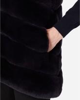 N.Peal Rex Fur Ribbed Gilet