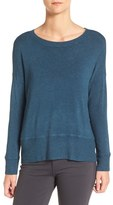 Eileen Fisher Cozy Stretch Knit Ballet Neck Sweater (Regular & Petite)