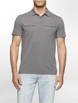 Calvin Klein Slim Fit Tonal Stripe Polo Shirt