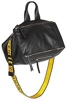 Givenchy Men's Pandora Leather Logo Bag