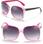 MARC BY MARC JACOBS Clear Frame Sunglasses with Neon