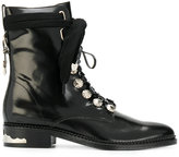 Toga Pulla embellished lace-up boots - women - Leather - 35
