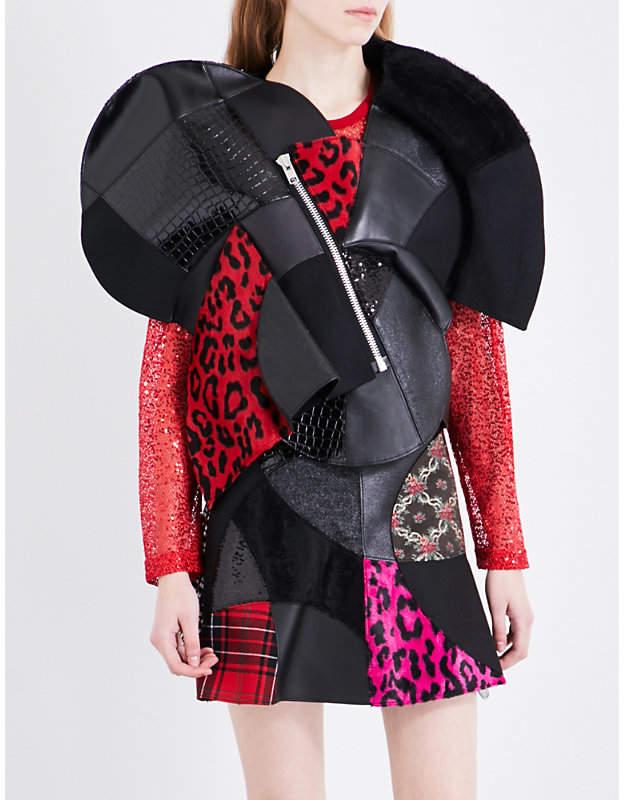 Junya Watanabe Asymmetric patchwork jacket
