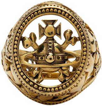 Vivienne Westwood Gold Aaron Seal Signet Ring