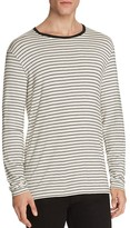 ATM Anthony Thomas Melillo ATM Striped Slim Fit Long Sleeve Tee