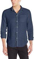 Calvin Klein Jeans Men's Linen Button Down Long Sleeve Shirt