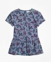 Brooks Brothers Floral Printed Tunic