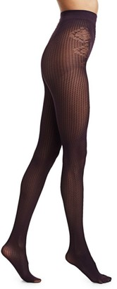 Fogal Colette Patterned Lace Pantyhose