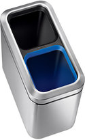 Simplehuman Brushed Stainless Steel 20 Liter Fingerprint Proof Slim Dual Recycler Trash Can