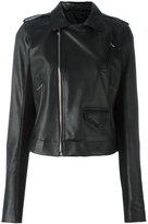 Rick Owens Stooges biker jacket - women - Cotton/Goat Skin/Cupro/Virgin Wool - 44