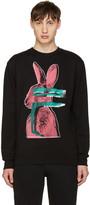 McQ by Alexander McQueen Black Glitch Bunny Clean Pullover