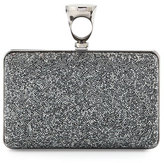 Tom Ford Micro Crystal Ring-Top Clutch Bag, Gray