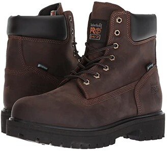 Timberland Direct Attach 6 Soft Toe (Brown Oiled Full-Grain Leather) Men's Work Lace-up Boots