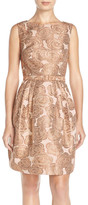 Eliza J Floral Jacquard Fit & Flare Dress