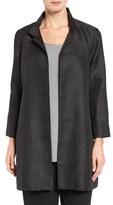 Eileen Fisher Women's Gypsum Jacquard Stand Collar Coat