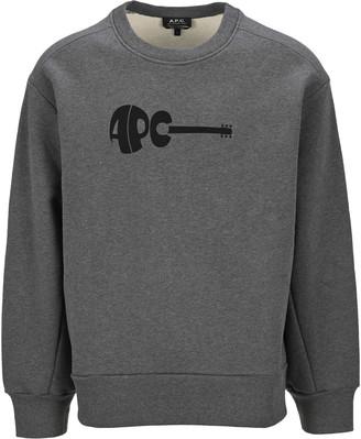 A.P.C. Guitar Crewneck Swetshirt