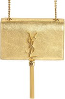 Saint Laurent 'Small Kate - Tassel' Metallic Calfskin Leather Crossbody Bag