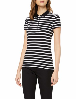 Tommy Hilfiger Women's Short Sleeve Slim Polo Stripe Shirt