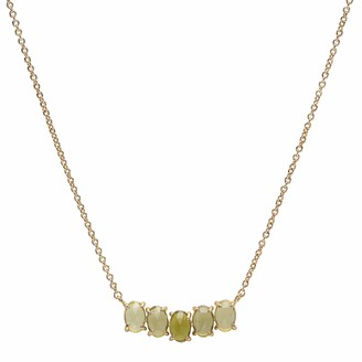 Tai August Cluster Birthstone Pendant Necklace in 14k Gold Plated