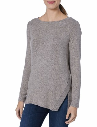 Amy Byer Women's Plus Size Long Sleeve V-Sides Top