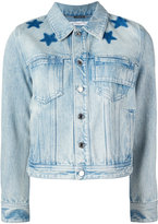Givenchy star print bleached jacket - women - Cotton - 38