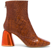 Ellery Croc Embossed Jezebels Boots in Brown,Animal Print.