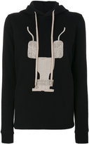 Rick Owens embroidered hoodie