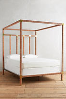 Anthropologie Leather-Wrapped Tory Bed
