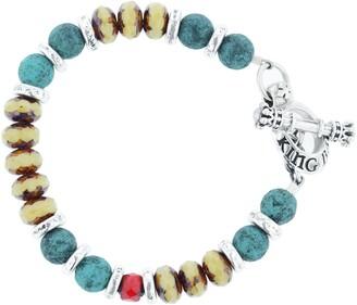 King Baby Studio American Voices Ceramic & Glass Bead Bracelet