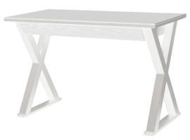"Walker Edison Home Office 48"" Glass Metal Computer Desk - White"