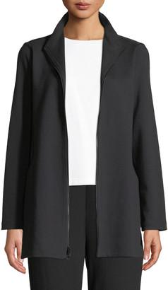 Eileen Fisher Petite Travel Ponte Zip-Front Jacket