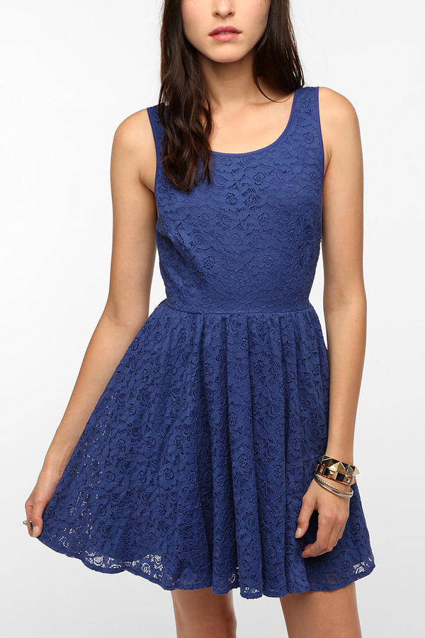 Urban Outfitters Pins And Needles Backless Lace Dress