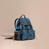Burberry The Medium Rucksack in Python Print Nylon and Leather
