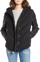 Blank NYC BLANKNYC Bed Fellows Puffer Jacket with Faux Leather Sleeves