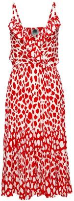 State Of Georgia The Georgia Original Beach Dress In Giraffe Red