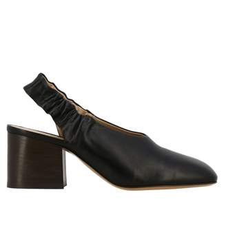 Marni Pumps In Leather With Elastic Strap