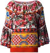 Dolce & Gabbana Mambo print peasant blouse