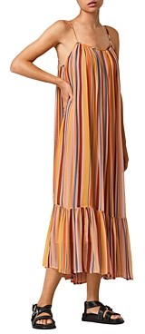 AllSaints Paola Striped Shift Dress